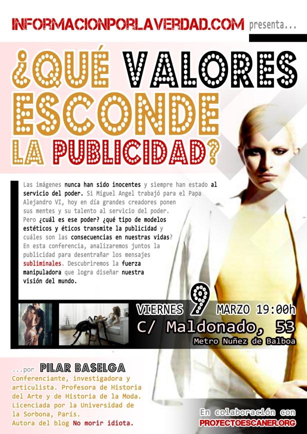 """Conferencia de nuestra amiga Pilar Baselga sobre: """"¿Que valores esconde la Publicidad?"""""""
