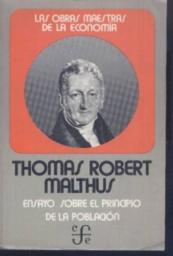 Resultado de imagen para thomas malthus sobre el principio de la poblacion