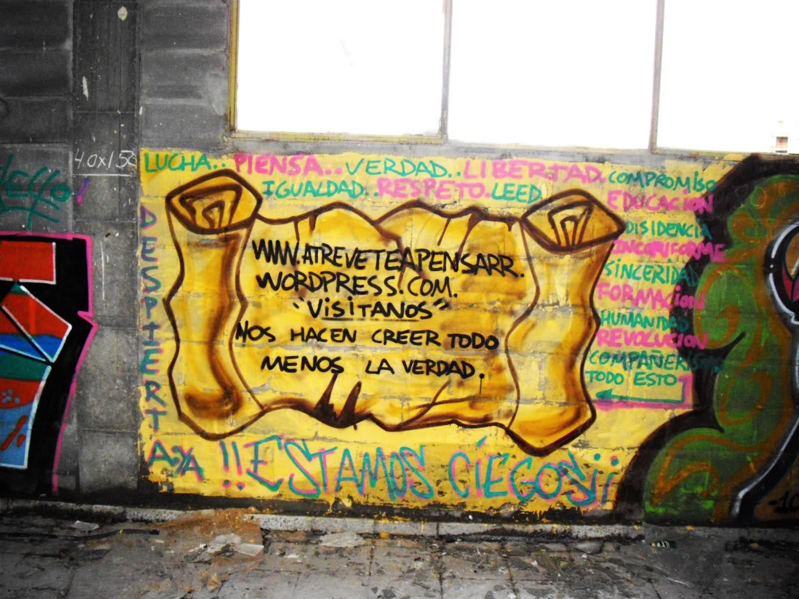 Vallecas explota de color Graffitis conscientes.